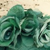 Rose Garland in Green - Closeup