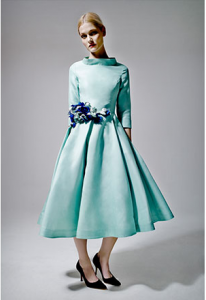 Suzannah 1950s Midi Elbow in Spearmint