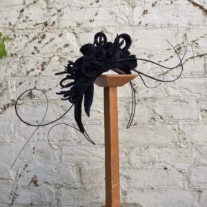 black felt on wire